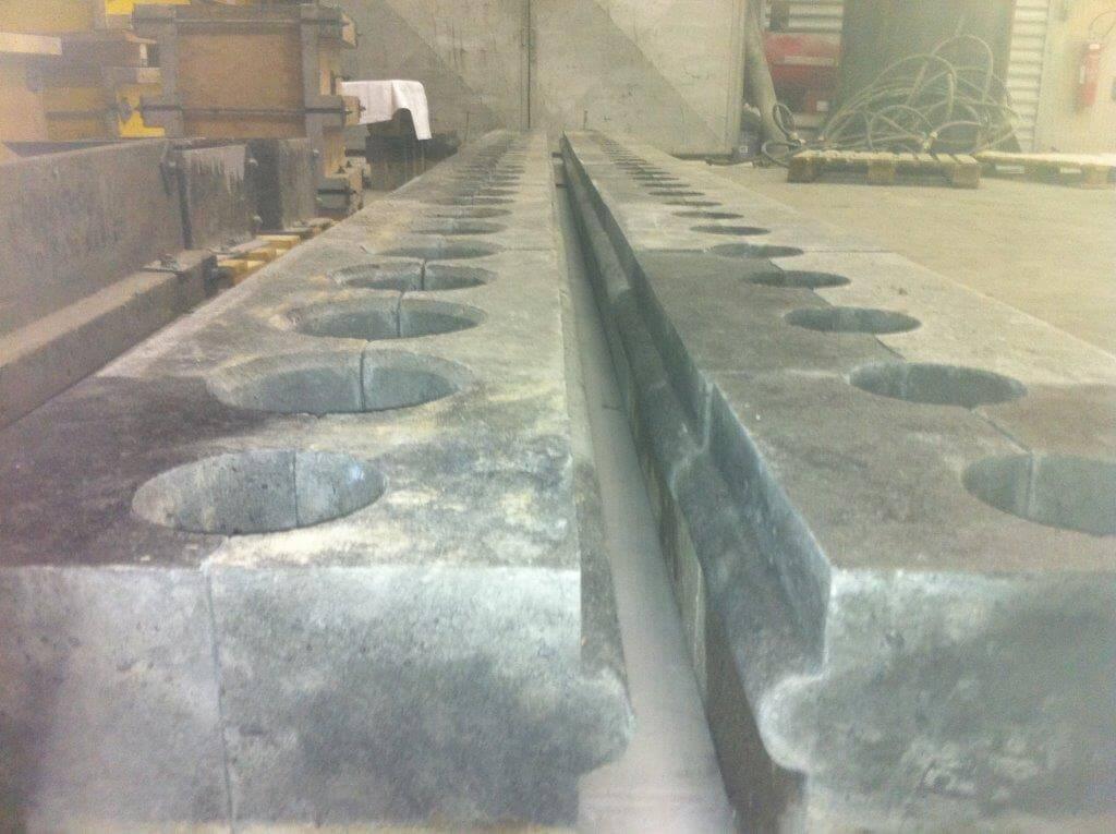 Pièce de forme fabriquée en atelier